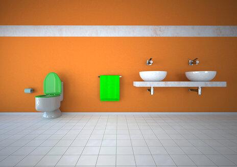Illustration of bathroom - ALF000058