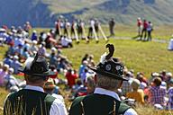 Austria, Vorarlberg, People sitting on Diedamskopf mountain near Schoppernau - SIE003580
