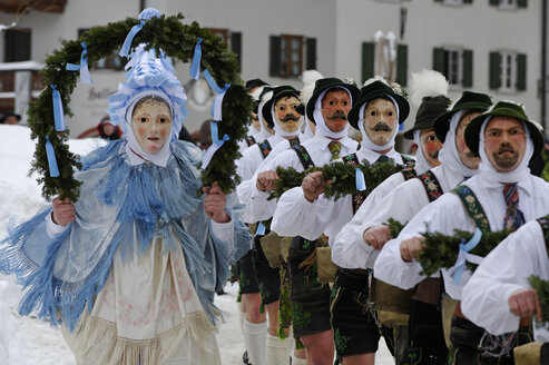 Germany Bavaria, Forerunners of Carnival Parade - LB000016