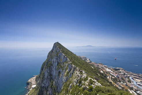 Gibraltar, View of Mountain top and mediterranian sea - MS002862