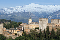 Spain, Andalusia, Granada, View from tower of San Miguel Bajo church in town - MS002877