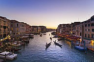 Italy, Venice, View of Grand Canal at dusk - HSIF000151