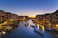 Italy, Venice, View of Grand Canal at dusk - HSIF000153
