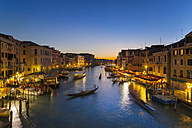 Italy, Venice, View of Grand Canal at dusk - HSIF000155