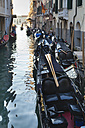 Italy, Venice, Gondalas on Canal Grande at St Mark's Square - HSI000256