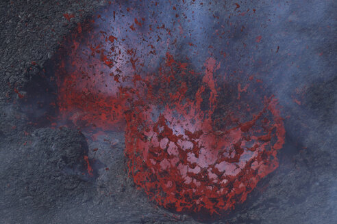 Italy, Sicily, View of lava erupting from Mount Etna - MR001301