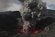 Indonesia, Java, View of lava erupting from Bromo volcano - RM000486