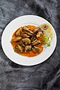 Mussels in oil on plate, close up - CSF018774