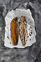 Mackerel with peppercorns on paper - CSF018801