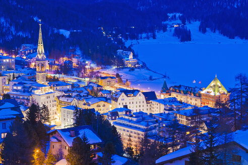 Switzerland, View of St Moritz townscape - WDF001708