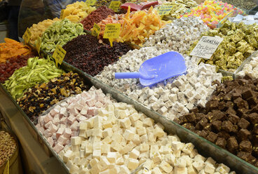 Turkey, Istanbul, Traditional delights in market - LH000074