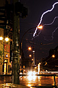 Germany, Berlin, Lightning near TV tower - FBF000028