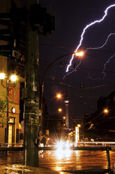 Germany, Berlin, Lightning near TV tower - FBF000028