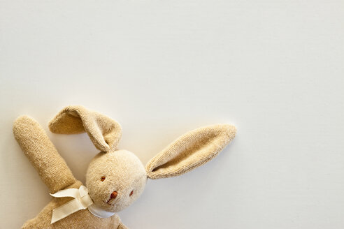 Cuddly toy rabbit, close up - JFEF000079