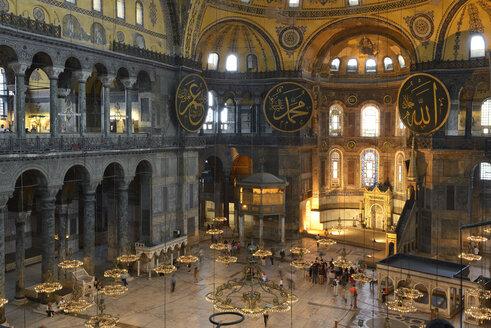 Turkey, Istanbul, Interior of Hagia Sophia - LH000088