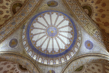 Turkey, Istanbul, Painted ceiling at Sultan Ahmed mosque - LH000095