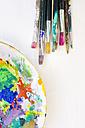 Paint brushes, palette on white background - LVF000048