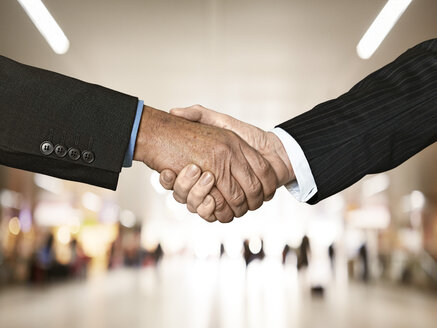 Businessmen shaking hands - STKF000266