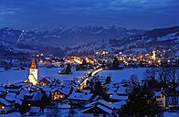 Germany, Bavaria, View of Bad Hindelang in winter - LH000114