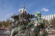 Germany, Berlin, Neptunbrunnen fountain at Alexanderplatz square, close up - CB000070