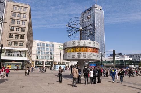 Germany, Berlin, World Clock at Alexanderplatz square - CB000077