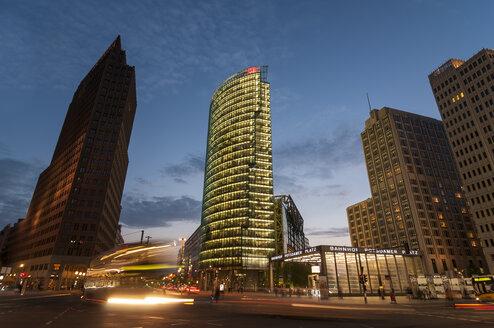 Germany, Berlin, View of Potsdamer Platz square at night - CB000087