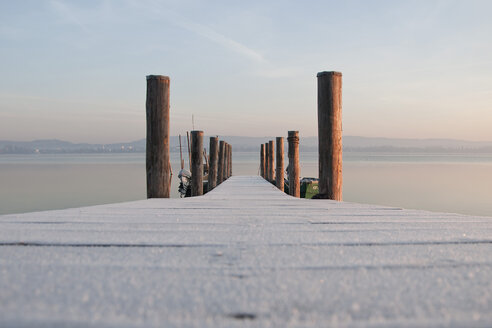 Germany, Baden Wuerttemberg, Jetty on Lake Constance - BSTF000055