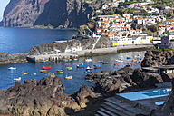 Portugal, View of Camara de Lobos near Funchal - AMF000163