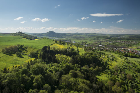 Germany, View of Hegau landscape in spring - ELF000155