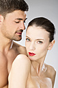 Young couple falling in love, close up - MAEF006707
