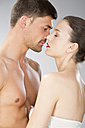 Young couple falling in love, close up - MAEF006710