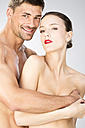 Young couple falling in love, close up - MAEF006714
