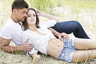 Germany, Bavaria, Young couple falling in love - MAEF006737