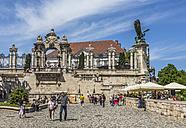 Hungary, Budapest, Entrance of Buda Castle - MAB000067