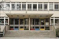 Germany, Berlin, Entrance of school - FBF000064