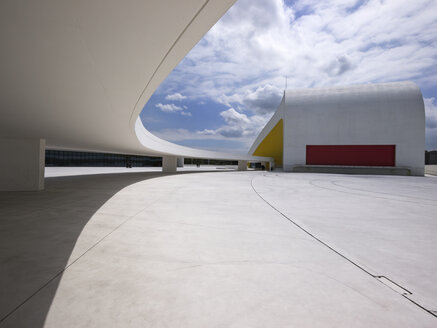 Spain, Aviles, View of Auditorium at Oscar Niemeyer International Cultural Centre - LA000058