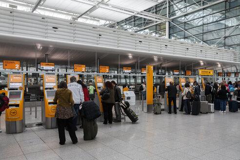 Germany, Bavaria, Munich, People at Munich Airport - HA000117