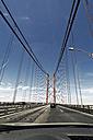 Portugal, Lisbon, Setubal, View of 25 de Abril Bridge - MSF002947