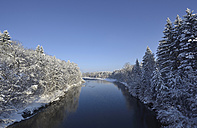 Germany, Bavaria,View of Isar River - LH000179