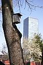 Germany, Bavaria, Munich, Birdhouse on tree - ED000041