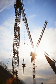 Germany, Bavaria, Munich, Construction area with tower crane - EDF000026