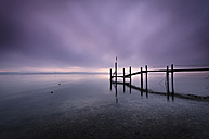 Germany, View of Lake Constance with pier - MBOF000015