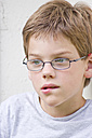 Boy looking away and thinking - LVF000117