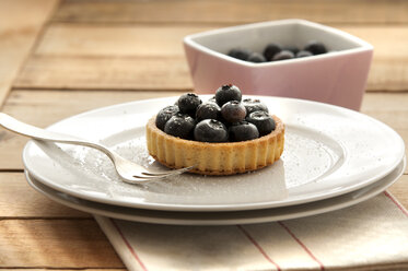 Fruit tartlet with blueberries on plate - OD000053