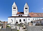 Germany, Bavaria, Steingaden, View of Parish Church of St John - AM000535