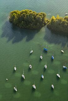 Germany, View of Anchoring sailing boats - SH000767