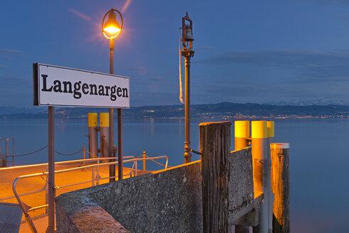 Germany, Sign board at quay - SH000730