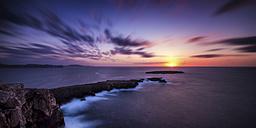 Spain, Menorca, View of Cap De Cavalleria at sunset - SMA000149