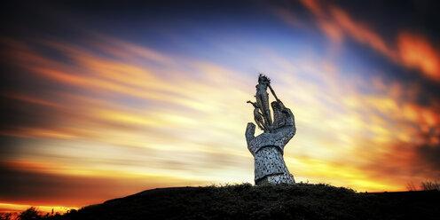 UK, Scotland, View of sculpture at Alloa - SMA000145