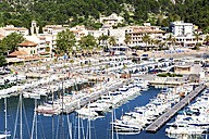 Spain, Mallorca, View of sailing boat at Port de Soller - STD000002